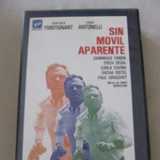 Cine: VHS VIDEO SIN MOVIL APARENTE JEAN-LOUIS TRINTIGNANT DOMINIQUE SANDA SACHA DISTEL NO EDITADA EN DVD. Lote 145226782