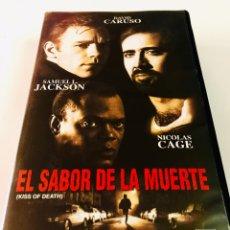 Cine: EL SABOR DE LA MUERTE VHS - NICOLAS CAGE - DAVID CARUSO. Lote 145375638