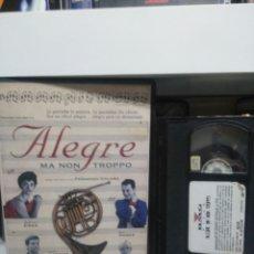 Cine: ALEGRE. VHS.( CAJA GRANDE).. Lote 145412570