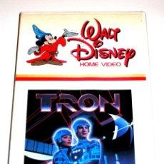 Cinema: TRON (1982) - STEVEN LISBERGER JEFF BRIDGES BRUCE BOXLEITNER DAVID WARNER VHS 1ª EDICIÓN. Lote 145556454