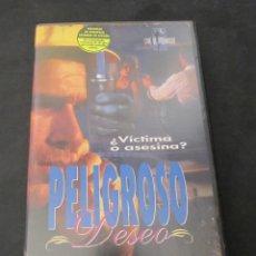 Cine: VHS VIDEO PELIGROSO DESEO NICHOLAS MEDINA PLAYBOY ENTERTAINMENT UNICA EN TC NO EDITADA EN DVD. Lote 145652982