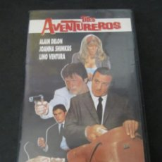 Cine: VHS VIDEO TRES AVENTUREROS AKA LOS AVENTUREROS ALAIN DELON LINO VENTURA UNICA EN TC. Lote 145653358