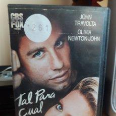 Cine: TAL PARA CUAL VHS JOHN TRAVOLTA-OLIVIA NEWTON-JOHN. Lote 146100744