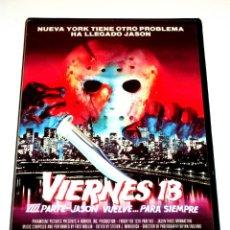 Cine: VIERNES 13 PARTE VIII (PARTE 8) JASON VUELVE PARA SIEMPRE (1989) - KANE HODDER VHS 1ª EDICIÓN. Lote 146322434