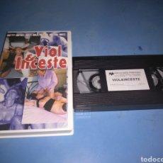 Cine: VHS-(X) VIOL & INCESTE, PRELUDE. Lote 146406926