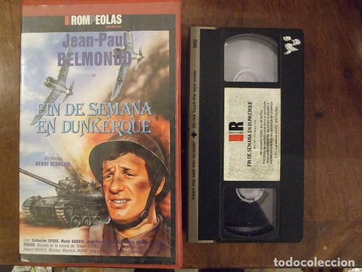 FIN DE SEMANA EN DUNKERQUE - HENRI VERNEUIL - JEAN PAUL - BELMONDO - ROMPEOLAS (Cine - Películas - VHS)