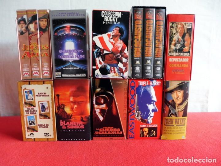 PAQUETE DE 10 LOTES DE PELÍCULAS VHS COLECCIONES COMPLETAS (Cine - Películas - VHS)