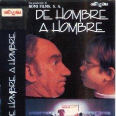 Cine: DE HOMBRE A HOMBRE (1984) VHS FERNANDO FERNAN GOMEZ. Lote 146652322
