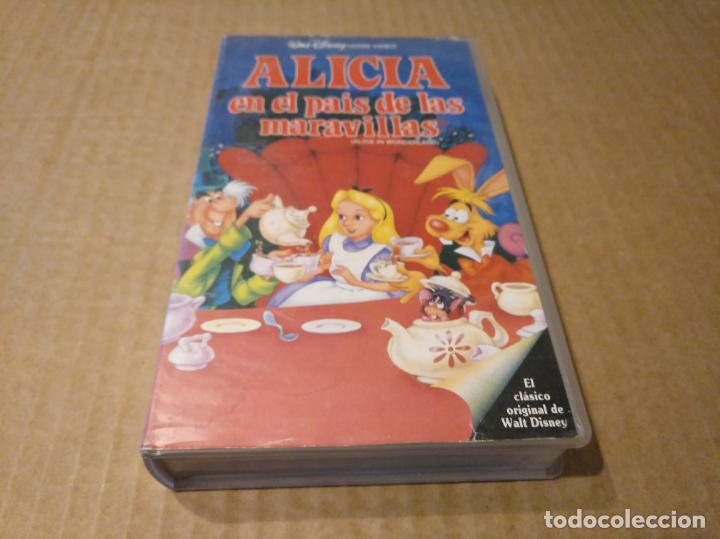 ALICIA EN EL PAIS DE LAS MARAVILLAS VHS 1ªEDICION 1990 AUDIO ANTIGUO (Cine - Películas - VHS)
