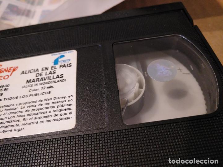 Cine: Alicia en el pais de las maravillas vhs 1ªedicion 1990 audio antiguo - Foto 17 - 146729866