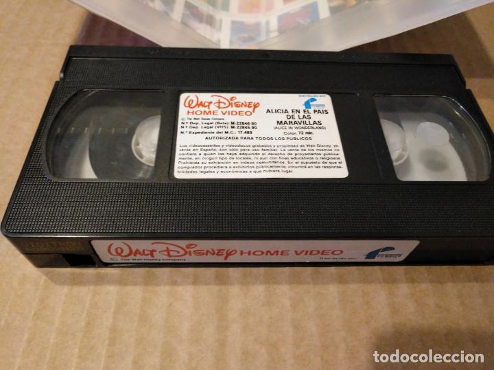 Cine: Alicia en el pais de las maravillas vhs 1ªedicion 1990 audio antiguo - Foto 18 - 146729866