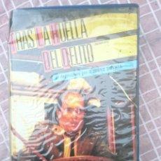 Cine: VHS - TRAS LA HUELLA DEL DELITO CON CINTA EN MAL ESTADO SUPUESTAMENTE -VER FOTOS . Lote 147107414