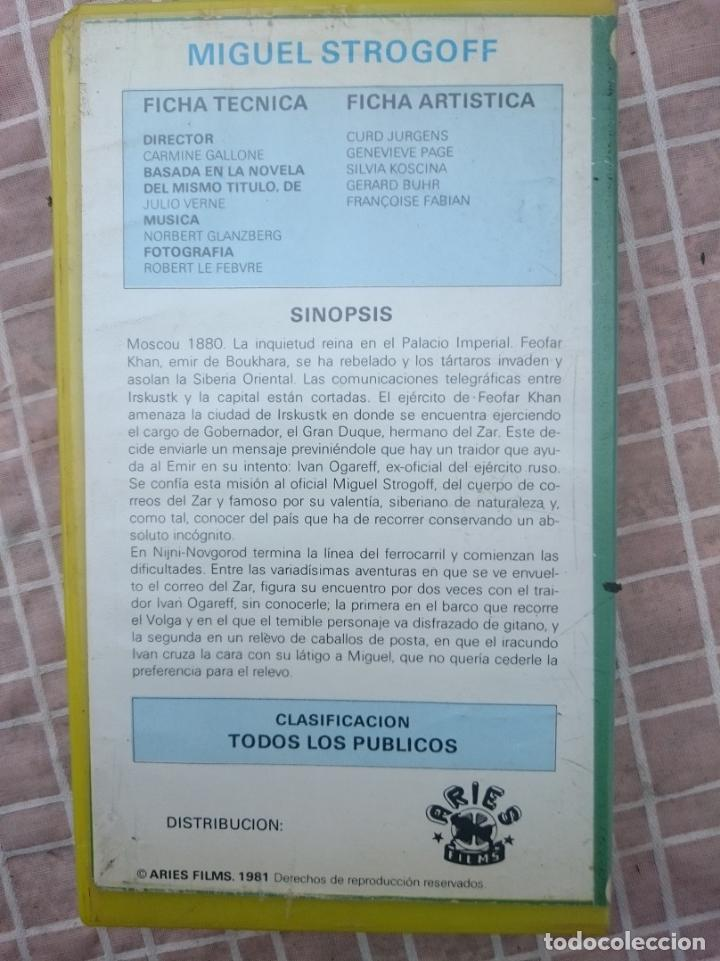 Cine: VHS - MIGUEL STROGOFF EL CORREO DEL ZAR - ALGO MAL ESTADO -VER FOTOS - Foto 2 - 147107638