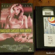Cine: DEMASIADO CANSADO PARA MORIR - WONSUK CHIN - TAKESHI KANESHIRO , BEN GAZZARA - FILMAX 2002. Lote 147333022