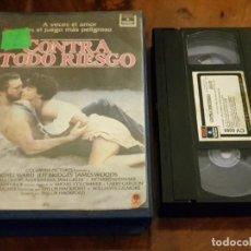 Cine: CONTRA TODO RIESGO - TAYLOR HACKFORD - RACHEL WARD , JEFF BRIDGES - RGA 1985. Lote 147333302