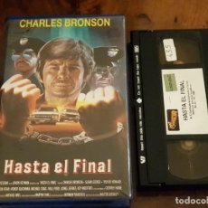 Cine: HASTA EL FINAL - CHARLES BRONSON - SUSAN GEORGE , TREVOR HOWARD - VHS 1988. Lote 147335186