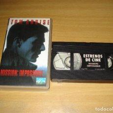 Cine: MISSION: IMPOSSIBLE. VHS. COLECCIÓN ESTRENOS DE CINE (PLANETA DE AGOSTINI). ESPAÑOL. Lote 148057586