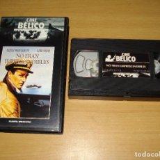 Cine: NO ERAN IMPRESCINDIBLES. PELÍCULA VHS. COLECCIÓN CINE BÉLICO (PLANETA DE AGOSTINI). ESPAÑOL. Lote 148058158