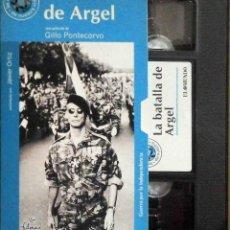 Cine: TODOVHS: LA BATALLA DE ARGEL (JEAN MARTIN, YACEF SAADI, BRAHIM HAGGIAG, FUSIA EL KADER, UGO PALETTI). Lote 148110170