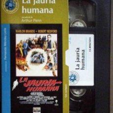 Cine: TODOVHS: LA JAURÍA HUMANA. ARTHUR PENN (MARLON BRANDO, ROBERT REDFORD, ANGIE DICKINSON, JANE FONDA). Lote 148110346