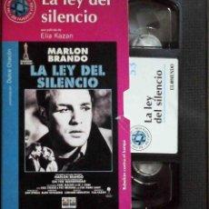 Cine: TODOVHS: LA LEY DEL SILENCIO. ELIZ KAZAN (MARLON BRANDO, EVA MARIE SAINT, KARL MALDEN, LEE J. COBB). Lote 148110474