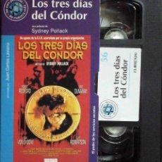 Cine: TODOVHS: LOS TRES DÍAS DEL CÓNDOR. SYDNEY POLLACK (ROBERT REDFORD, FAYE DUNAWAY, CLIFF ROBERTSON). Lote 148110666