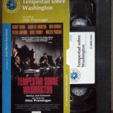 Cine: TODOVHS: TEMPESTAD SOBRE WASHINGTON. OTTO PREMINGER (WALTER PIDGEON, DON MURRAY, CHARLES LAUGHTON). Lote 148110706