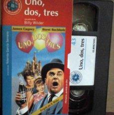 Cine: TODOVHS: UNO, DOS, TRES. BILLY WILDER (JAMES CAGNEY, PAMELA TIFFIN, HORST BUCHHOLZ, ARLENE FRANCIS). Lote 148110718
