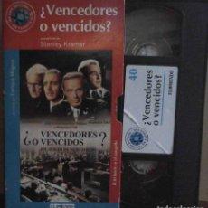 Cine: TODOVHS: ¿VENCEDORES O VENCIDOS? STANLEY KRAMER (SPENCER TRACY, BURT LANCASTER, RICHARD WIDMARK). Lote 148110750
