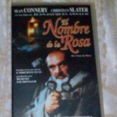 Cine: VENDO PELICULA VHS (EL NOMBRE DE LA ROSA), VER MAS INFORMACIÓN EN 2ª FOTO INTERIOR.. Lote 148110910