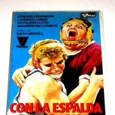 Cine: CON LA ESPALDA EN LA LONA (GOLPE BAJO) (1979) - EDWARD HERRMANN KATHLEEN LLOYD LORENZO LAMAS VHS. Lote 148248282