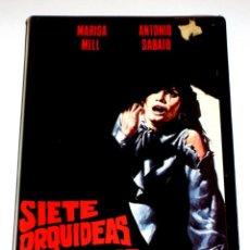 Cine: SIETE (7) ORQUIDEAS MANCHADAS DE ROJO (1972) - UMBERTO LENZI ANTONIO SABATO USCHI GLAS VHS. Lote 148248350
