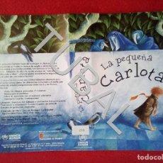 Cine: TUBAL LA PEQUEÑA CARLOTA VHS CARATULA ORIGINAL DE LA PELICULA . Lote 148334238