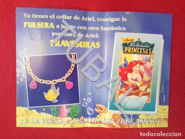 Cine: TUBAL ARIEL COLECCION PRINCESAS DISNEY VHS CARATULA ORIGINAL DE LA PELICULA - Foto 3 - 148334670