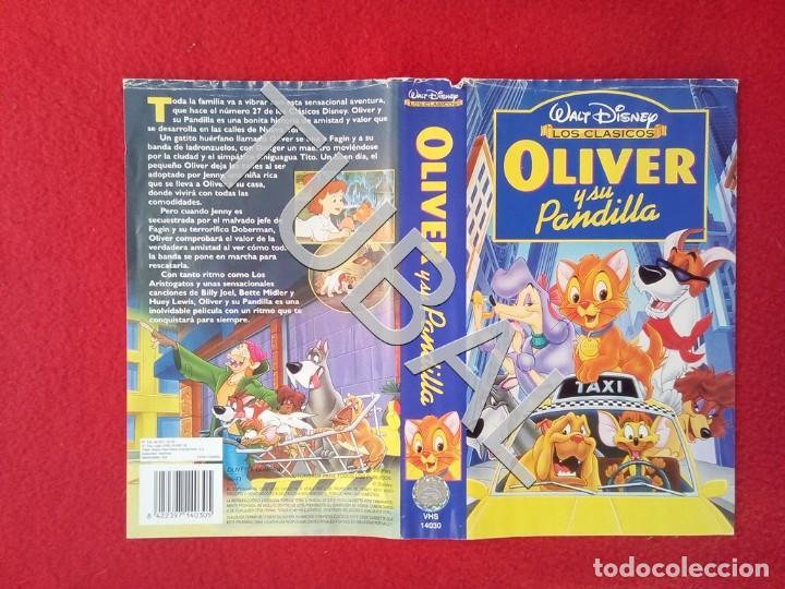 TUBAL OLIVER Y SU PANDILLA DISNEY VHS CARATULA ORIGINAL DE LA PELICULA (Cine - Películas - VHS)