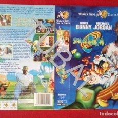 Cine: TUBAL SPACE JAM MICHAEL JORDAN VHS CARATULA ORIGINAL DE LA PELICULA . Lote 148335518
