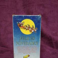 Cine: FELICES NOVEDADES, PUBLICIDAD, GAME BOY, SUPER NINTENDO, ERBE, EN VHS, ORIGINAL. Lote 148531282