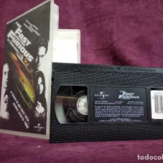 Cine: THE FAST AND THE FURIOUS EN VHS, ORIGINAL, CON CARÁTULA. Lote 148537334