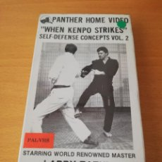 Cine: WHEN KENPO STRIKES. SELF-DEFENSE CONCEPTS VOLUME 2. STARRING KENPO MASTER LARRY TATUM (VHS). Lote 148645502