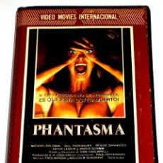 Cine: PHANTASMA (1979) - DON COSCARELLI A. MICHAEL BALDWIN ANGUS SCRIMM BILL THORNBURY VHS 1ª EDICION. Lote 106600371