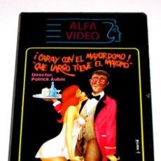 Cine: CARAY CON EL MAYORDOMO QUÉ LARGO TIENE EL MAROMO (1978) - JEAN-CLAUDE ROY BRIGITTE LAHAIE VHS ÚNICA. Lote 148928594