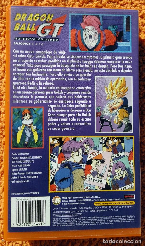 Cine: ((ANIMACION-VHS)) Dragon Ball Gt 2 - Serie En Video - Episodios 4,5 y 6, Manga, Anime - 1996 - Foto 2 - 148965358