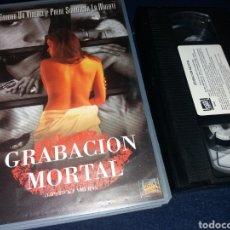 Cine: GRABACION MORTAL- VHS- MIKE BONIFER. Lote 150173454