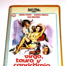 Cine: VIRGO TAURO Y CAPRICORNIO (1977) - LUCIANO MARTINO EDWIGE FENECH ALBERTO LIONELLO ALDO MACCIONE VHS. Lote 150179446
