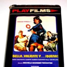 Cine: BELLA VALIENTE Y BUENA (1976) - MICHELE MASSIMO TARANTINI EDWIGE FENECH ALVARO VITALI VHS 1ª EDICIÓN. Lote 150312386