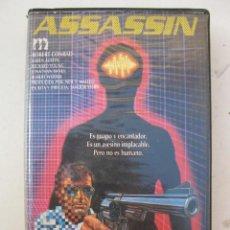 Cine: ASSASSIN - PELÍCULA EN VHS - SANDOR STERN - ROBERT CONRAD - KAREN AUSTIN.. Lote 150346318