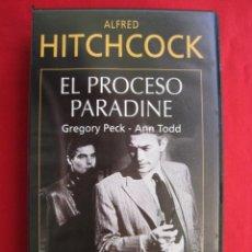 Cine: VHS - EL PROCESO PARADINE - ALFRED HITCHCOCK.. Lote 150590202
