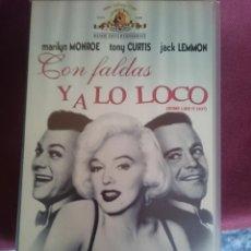 Cine: VHS - CON FALDAS Y A LO LOCO - MARILYN MONROE - TONY CURTIS - JACK LEMMON. Lote 150679150