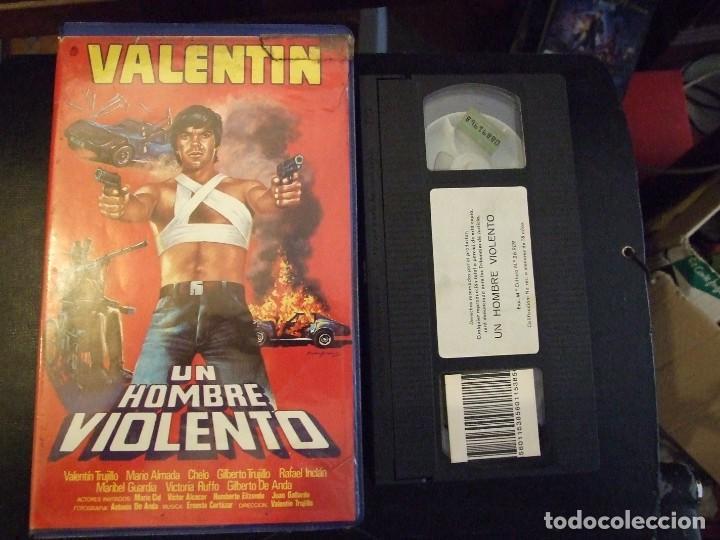 UN HOMBRE VIOLENTO - VALENTIN TRUJILLO - MARIO ALMADA , MARIBEL GUARDIA , CHELO - MEXCINEMA (Cine - Películas - VHS)