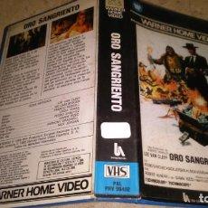 Cine: VHS ORO SANGRIENTO. Lote 151018942